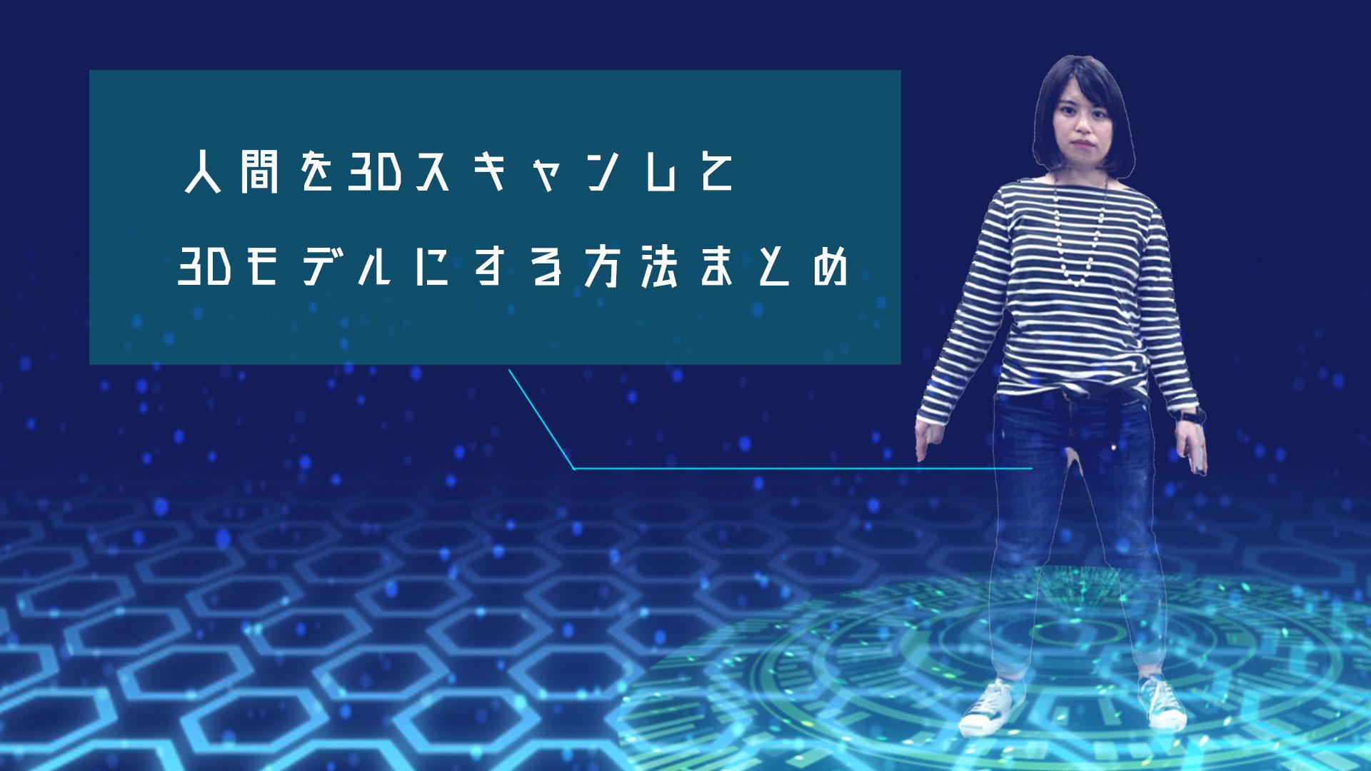 人間を3Dスキャン