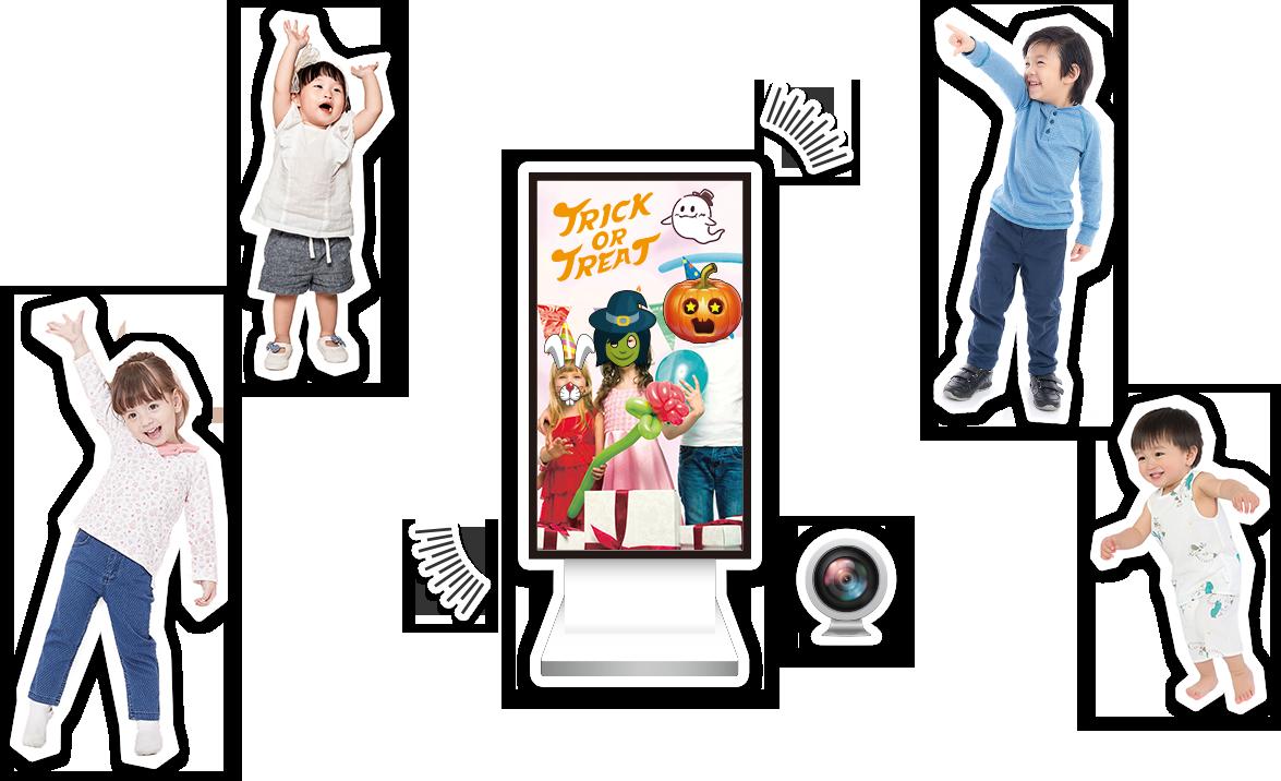 お子さまを惹きつけるデジタルサイネージ「Kinesys」