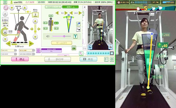 患者様の異常歩行をリアルタイムで判定する歩行分析ガイド機能やゲーム機能の開発