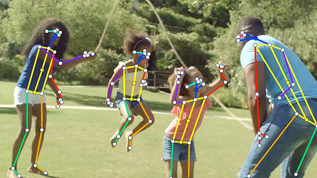 AI(ディープラーニング)の目でリアルタイムに、人間の骨格情報を検出