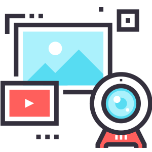 Supports camera images, still images, and videos