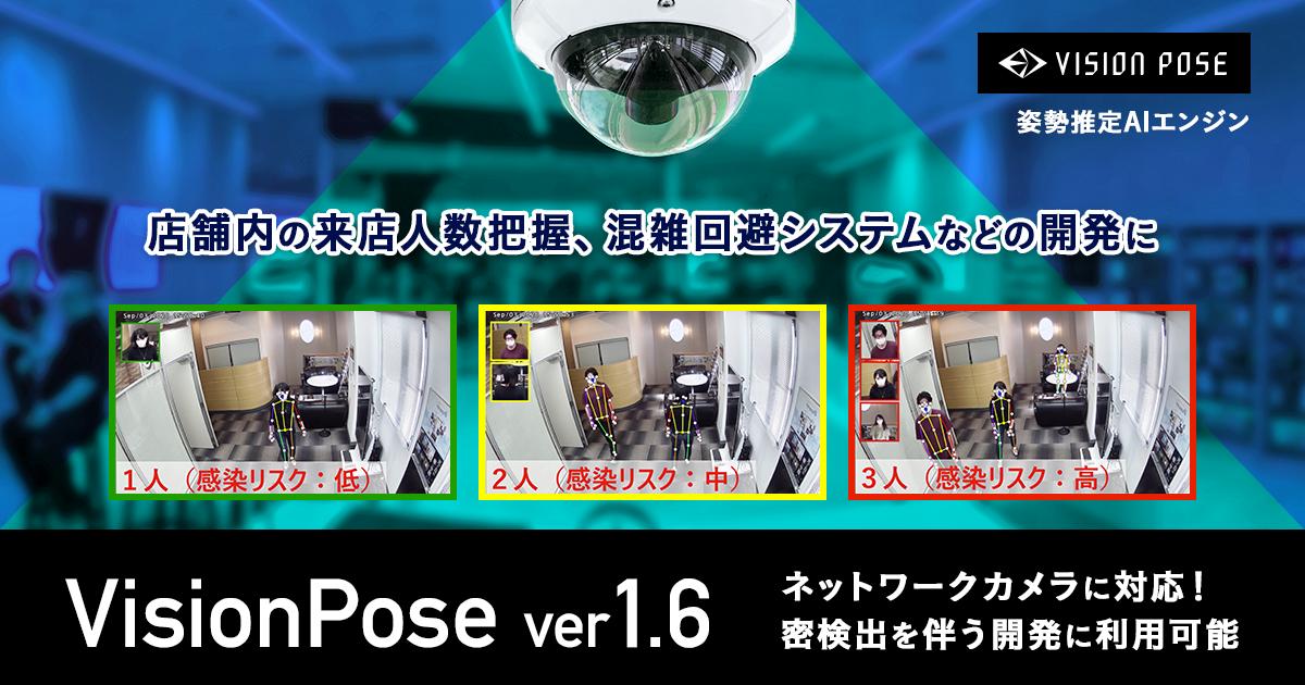 VisionPoseがネットワークカメラに対応