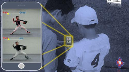 Sports Science Laboratory開発の、投球動作を閲覧できる人工知能アプリに活用